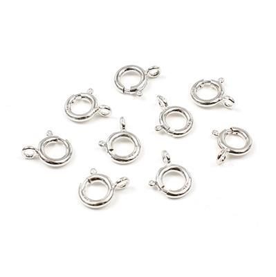 Sterling Silver Bolt Ring Clasp - 11mm (10pcs/pk)