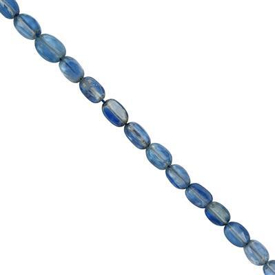 20cts Himalayan Kyanite Faceted Oval Approx 5x4 to 7x5mm, 20cm Strand