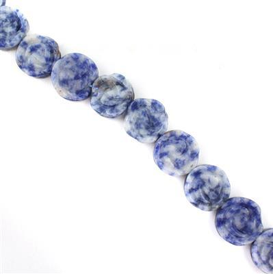 240cts Sodalite Carved Flower Approx 16mm 38cm