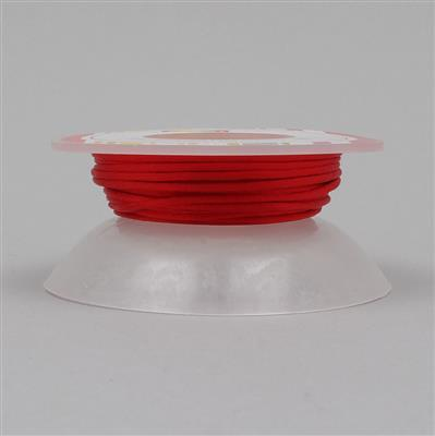10m Red Satin Cord 1mm on Bobbin