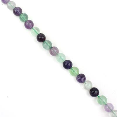 200cts Fluorite Plain Rounds Approx 8mm, Approx 38cm Strand