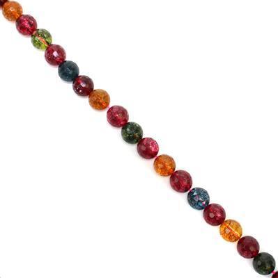 350cts Multi-Colour Quartz Faceted Rounds Approx 12mm 38cm strand