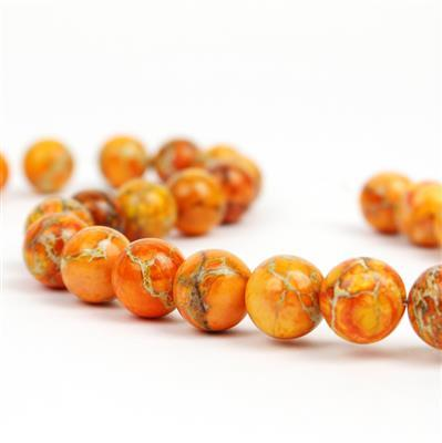 380cts Orange Terra Jasper Plain Rounds Approx 14mm, Approx 38cm/strand