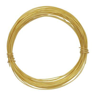 10m Gold Colored Copper Soft Wire 0.80mm