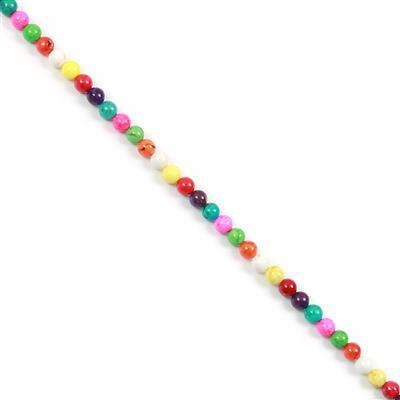 90cts Multi-Colour Magnesite Plain Rounds Approx 6mm, 38cm Strand