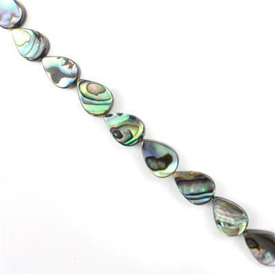 Abalone Flat Pears Approx 12x8mm 38cm
