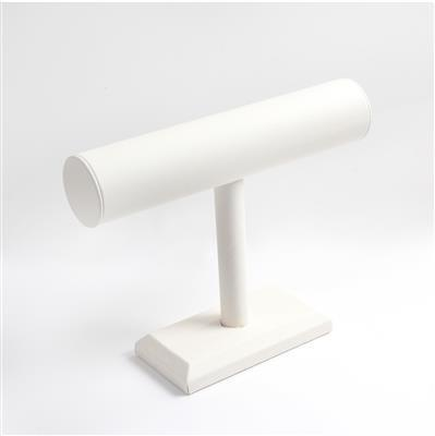 White Leatherette T-bar Bracelet Display Approx 18.5x24.5cm