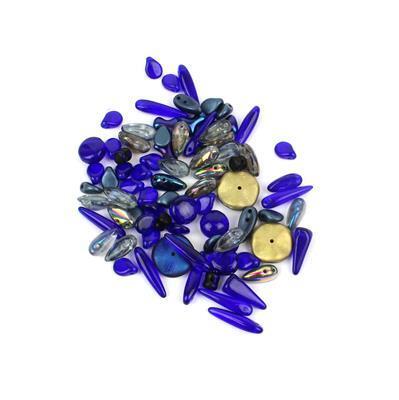 Preciosa Ornela Trade Mark Bead Mix - Metallic Dark Blue (20g)