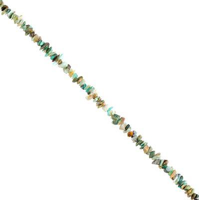 45cts Peruvian Opal Graduated Plain Small Nuggets Approx 3x1 to 10x1mm, 30cm Strand.