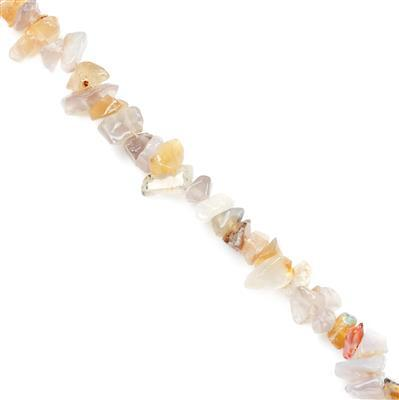 310cts Grey Agate Small Nuggets Approx 4x6 to 6x10mm, 82-86cm strand