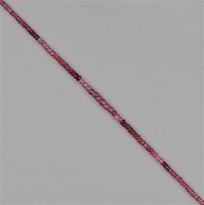 Ombre Pink Tourmaline Gemstone Strands
