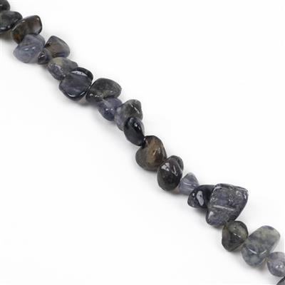 170cts Iolite Drop Style Medium Nuggets Approx from 9x8mm to 16x11mm, 38cm Strand