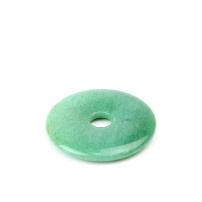 50cts Green Aventurine Donut Approx 40mm,1pk