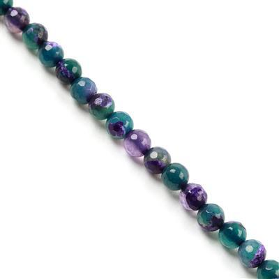 80cts Green&Purple Agate Faceted Rounds Approx 6mm, 38cm/strand