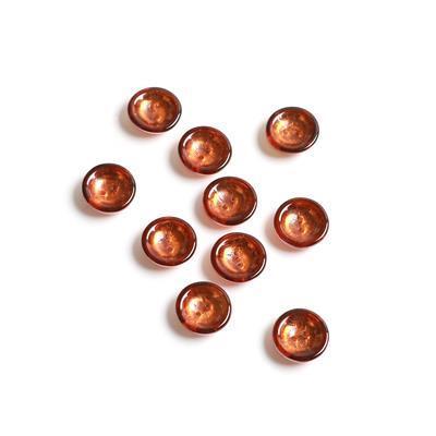 Czech Glass Cup Light Brown Capri Gold Beads, Approx 13x4mm (10pk)