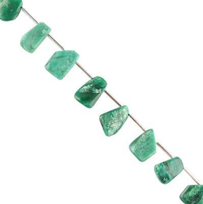 95cts Fuchsite Graduated Plain Medium Nuggets Approx 13x10 to 17x12mm, 18cm Strand.