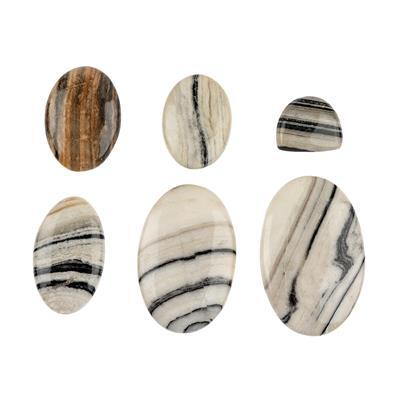 240cts Zebra Jasper Multi Shape Cabochons Assortment.
