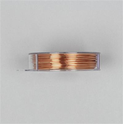 10m Copper Coloured Copper Wire 1.00mm