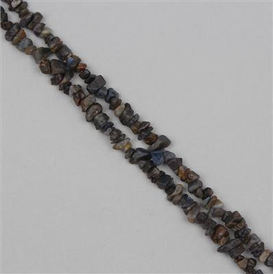 375cts Blue Sapphire Plain Medium Nuggets Approx From 2x1 to 9x4mm, 84cm Strand.