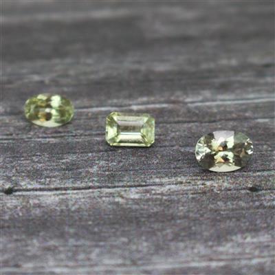 1.80cts Turkish Diaspore Faceted Multi Shape Cut-stone.