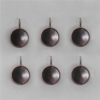 Antique Copper Plated Bezel Earrings Round - 17mm (3pairs/pk)