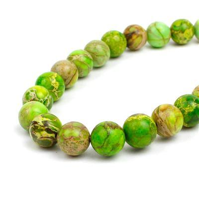 200cts Peridot Green Variscite Plain Rounds Approx 10mm 38cm