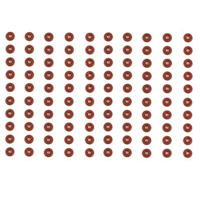 Chocolate 'O' Ring OD 6mm x ID 2mm (100pcs/pack)