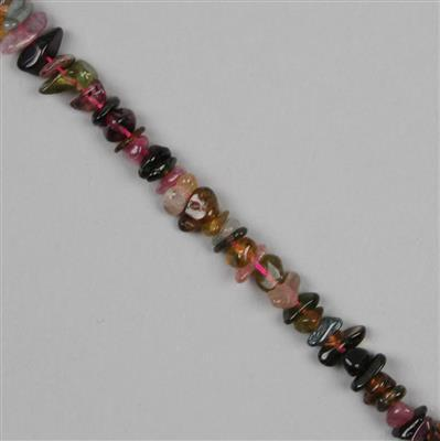 90cts Multi-Colour Tourmaline Small Nuggets Approx 3x4 to 9x4mm 38cm strand