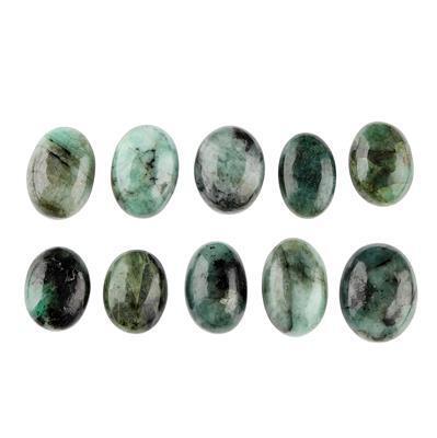 120cts Emerald Oval Cabochons Assortment.