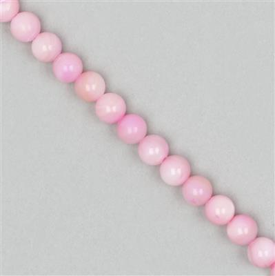 Dyed Pink Shell Plain Rounds Approx 8mm