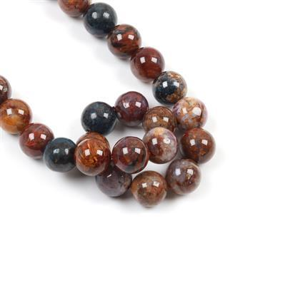 420cts Pietersite Plain Rounds Approx 12mm 38cm strand