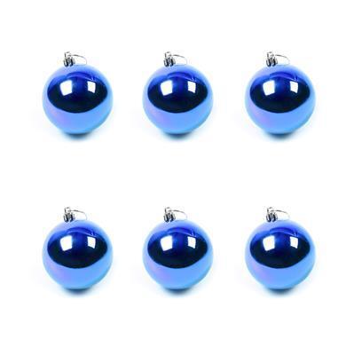 Blue Baubles Approx 7cm (6pk)