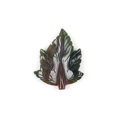 100cts Fancy Jasper Carved Leaf Pendant Approx 60x50mm