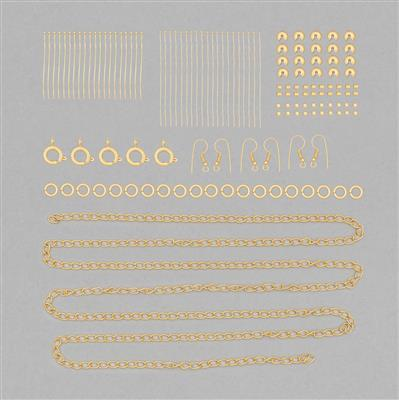 Gold Plated Finding Pack in Organza Bag (Approx 150pcs)