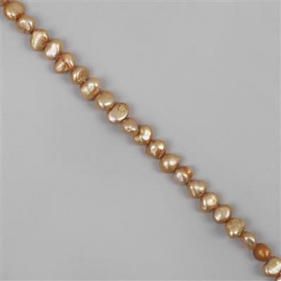 Champagne Freshwater Cultured Pearl Nuggets Approx 5-7mm