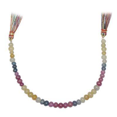 60cts Multi Sapphire Graduated Plain Rondelles Approx 3x2 to 6x4mm, 17cm Strand.