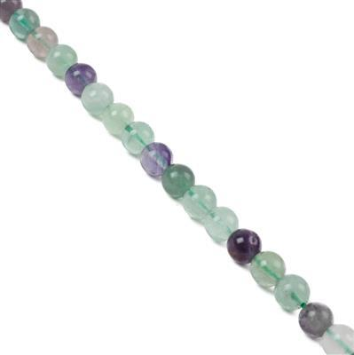 110cts Fluorite Plain Rounds Approx 6mm, 38cm Strand