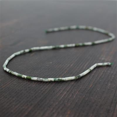 10cts Tree Agate Tubes Approx 2x4mm, Approx 38cm strand
