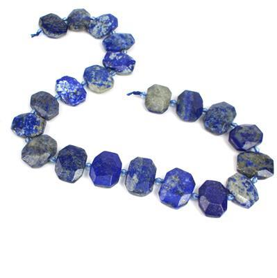 380cts Lapis Lazuli Faceted Slabs Approx 15x20-18x25mm, 38cm