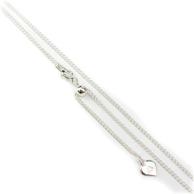 Sterling Silver Spiga Adjustable Slider Chain 32 inch