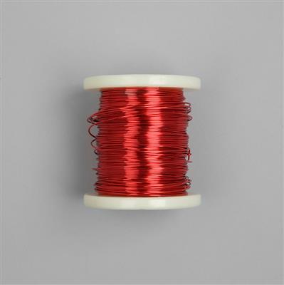 100m Red Coloured Copper Wire 1.0mm