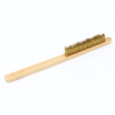 Soft Short Bristle Brass Brush 15cm (3 row)