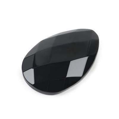 160cts Black Agate Faceted Pear Cabochon Approx 40x60mm