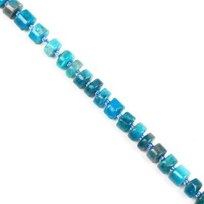 250cts Apatite Wheels Approx 4x9mm-6x11mm, Approx 38cm/strand