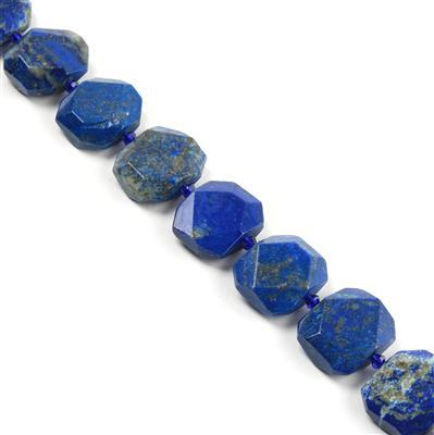 720cts Lapis Lazuli Faceted Slabs Approx from 19x22 to 21x25mm, 16pcs strand