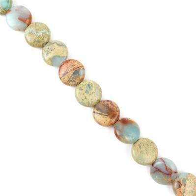 150cts Snake Skin Jasper Puffy Coins Approx 12mm, Approx 38cm strand
