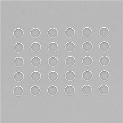 Silver Plated Copper Flat Wire Open Jump Ring Approx 20mm (30pcs)
