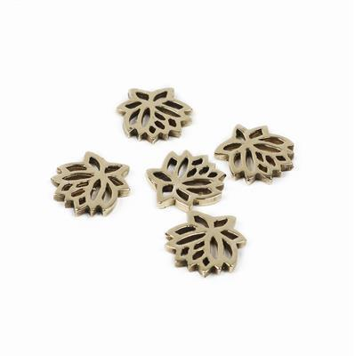 Polished Brass Flower Connector - 14mm (5pcs/pk)