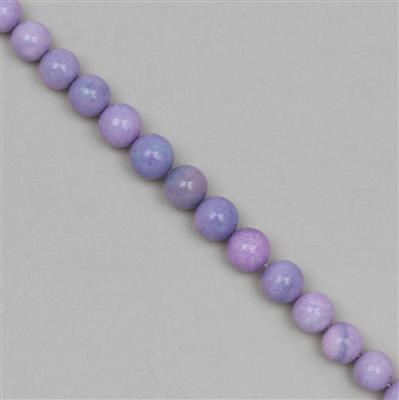100cts Lavender Opal Graduated Plain Rounds Approx 8 to 10mm, 18cm Strand.