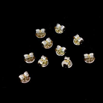 Gold Plated 925 Sterling Silver Butterfly Backs - 5mm (10pcs/pk)